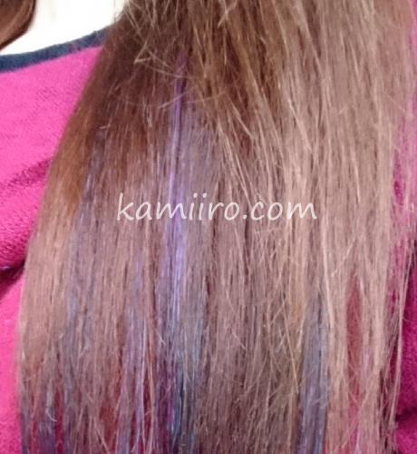 スカルプDボーテ薬用スカルプシャンプーとトリートメントで洗って乾かした髪の写真