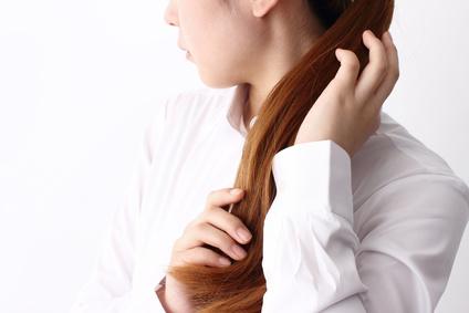 キレイな髪の女性