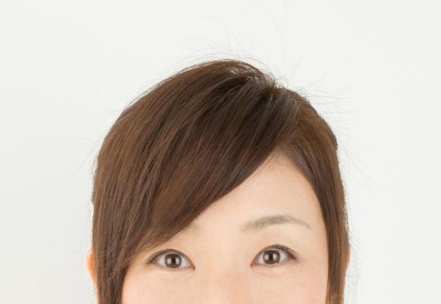 女性の目から上の顔