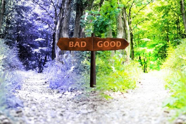 左「BAD」、右「GOOD」