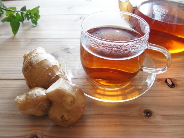 生姜とお茶