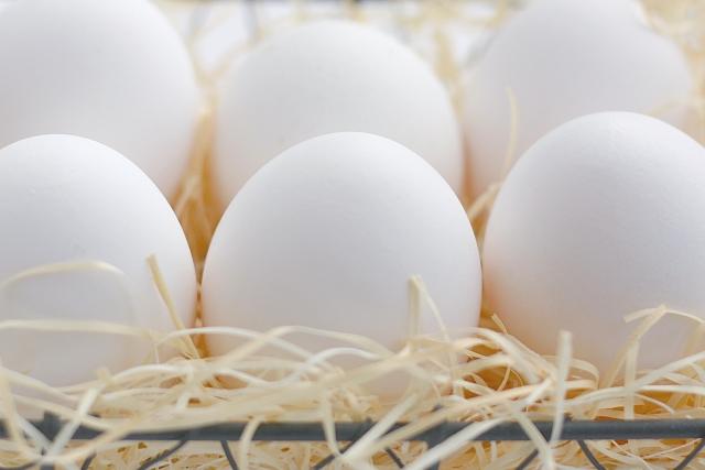 籠に並んだ卵