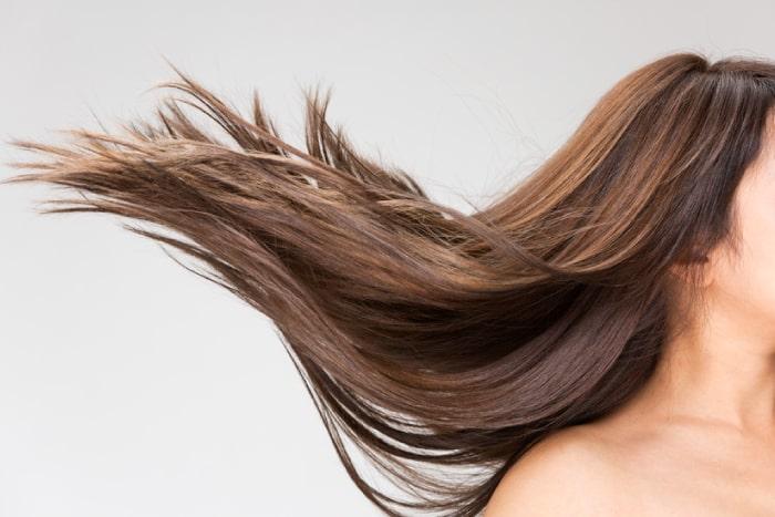 ツヤのある美しい髪